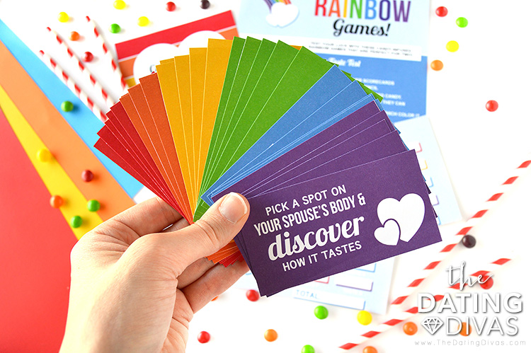 Taste the Rainbow Date Cards