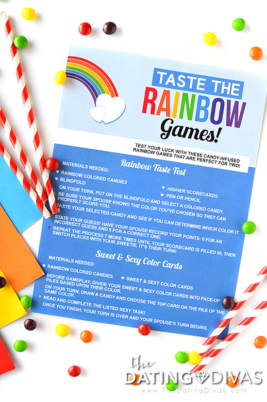 Taste the Rainbow Date Game Instructions