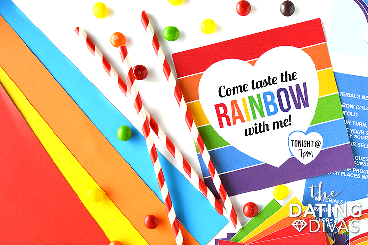 Taste the Rainbow Date Invite