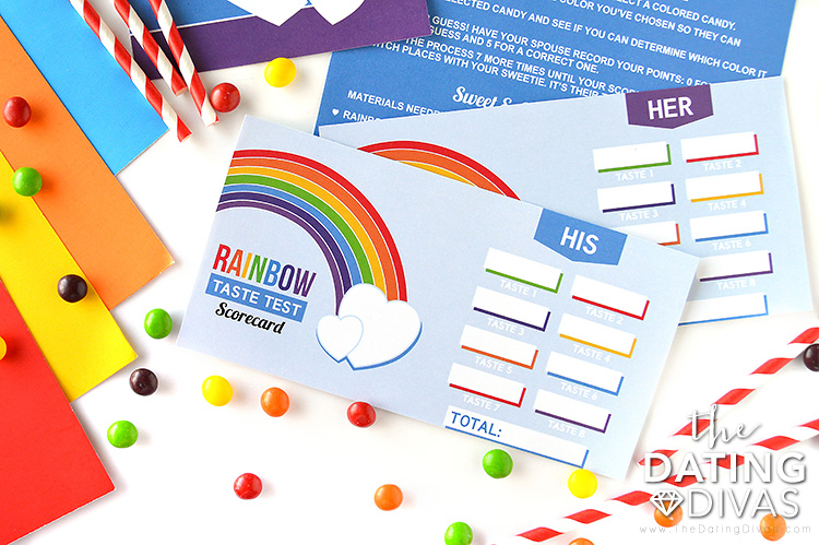 Taste the Rainbow Date Scorecards