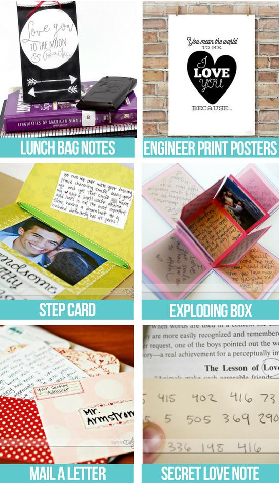 Unique Free Love Notes collage