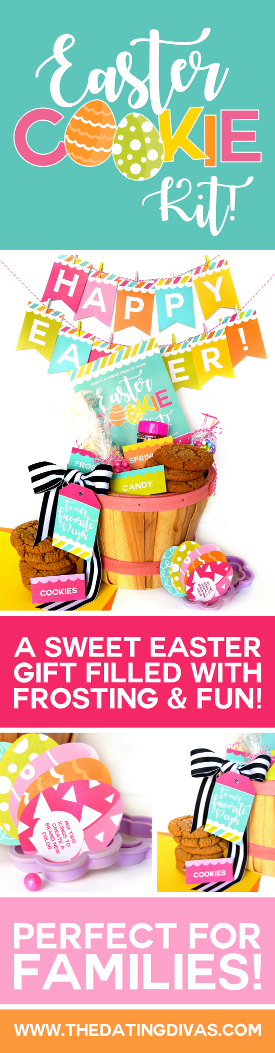 Easter Gift Basket Idea for Families #easterbasketideas #diyeasterbasket #eastergames