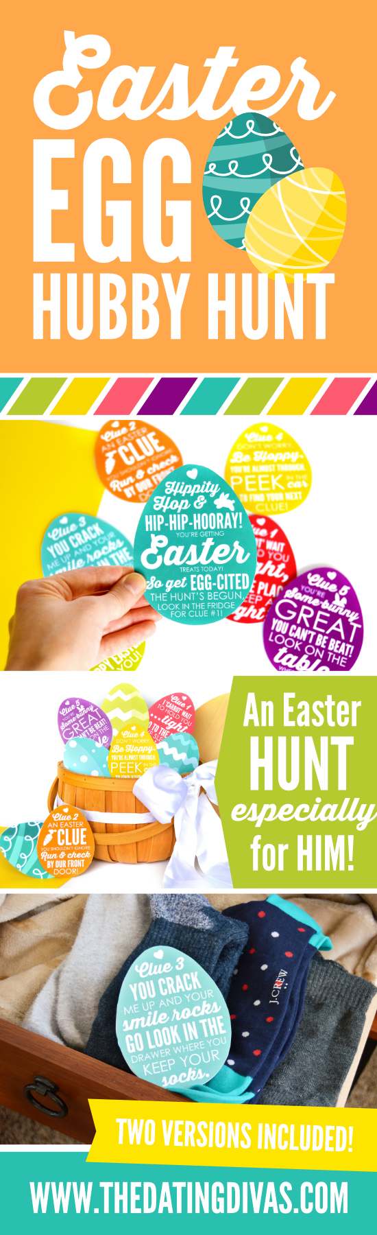 Easter Egg Hubby Hunt #easteregghuntideas #easterriddlesforadults #easterhuntideas #easteregghuntclues