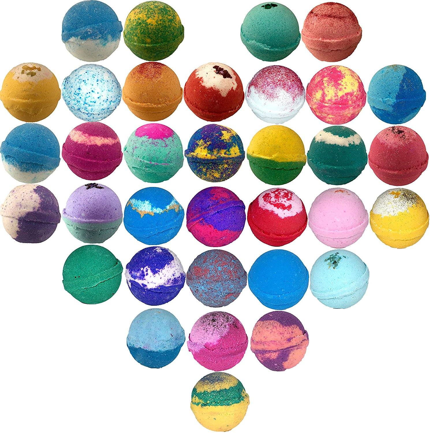 how to get color swirls in bath bombs