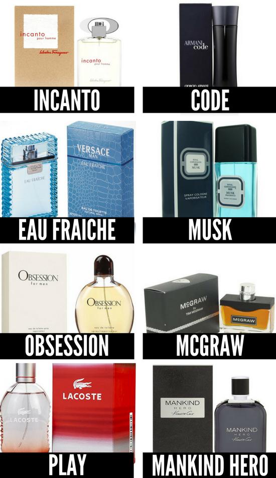 Men's Fragrance List #mensfragrance #menscologne #bestcologneformen
