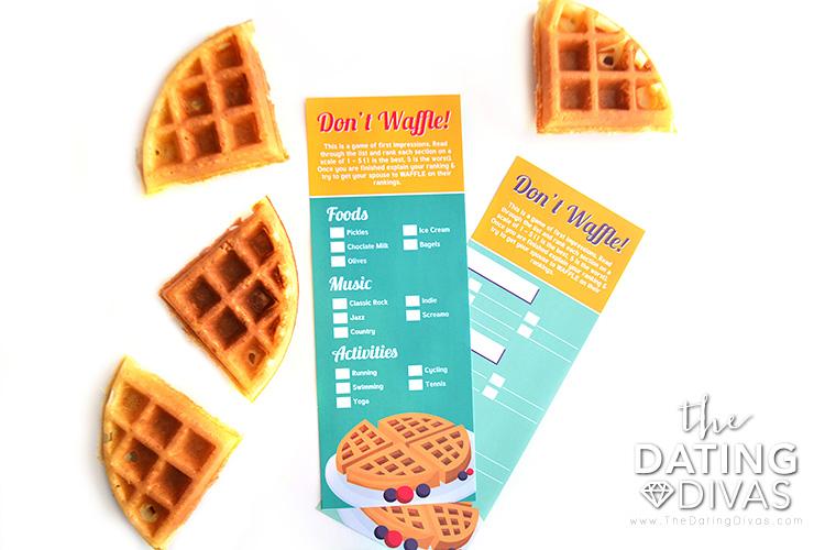 Waffle Date Night Game