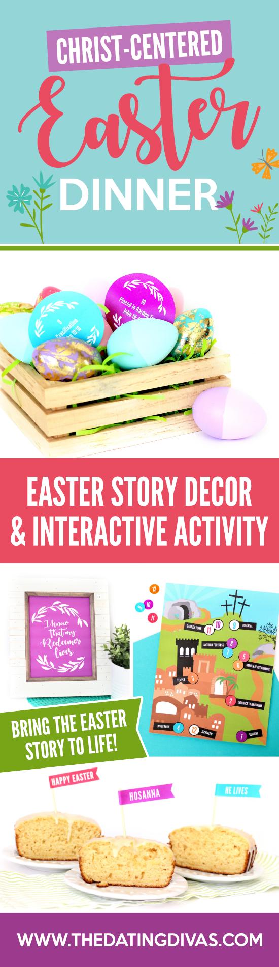 Christ-Centered Easter Dinner #EasterStory #EasterDinnerPrintables