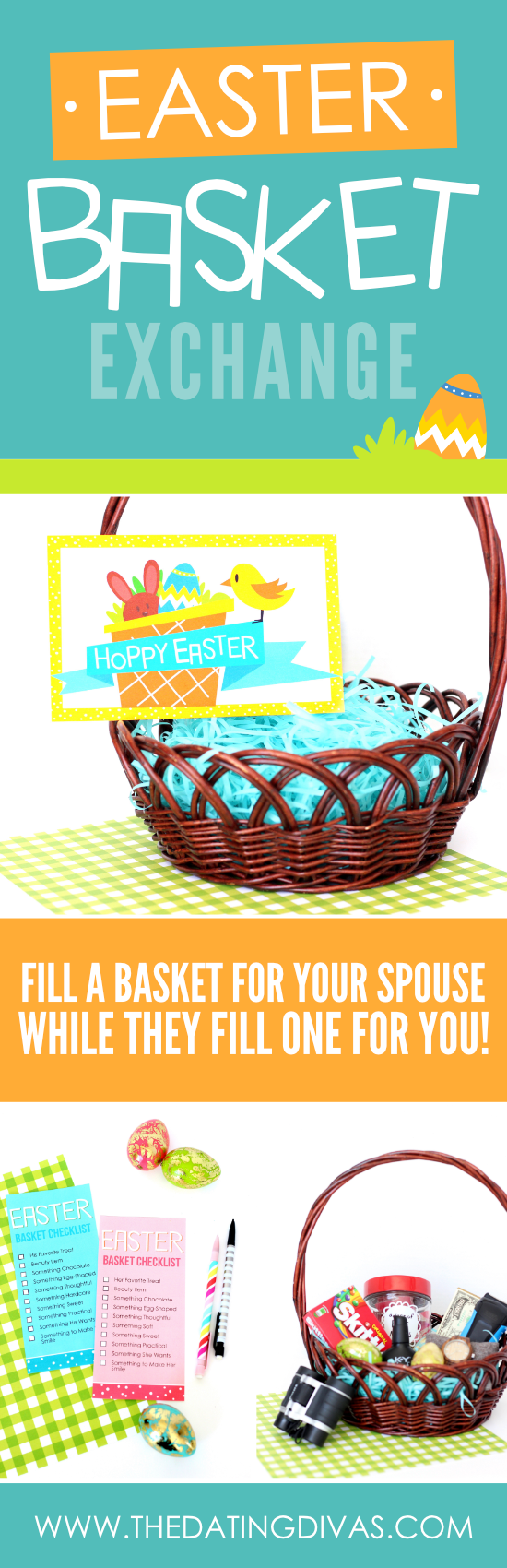 Easter basket exchange date night from the dating divas fill an easter basket for your spouse while they fill one for you negle Choice Image