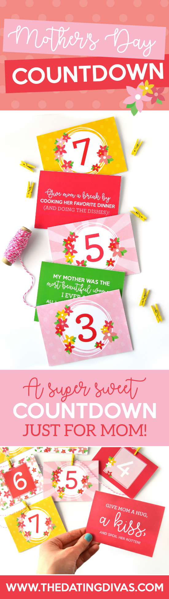 Give mom the PERFECT gift this Mother's Day with your free and easy Mother's Day quotes and service countdown! #mothersdaycountdown #cutemothersdayideas #makemothersdayspecial
