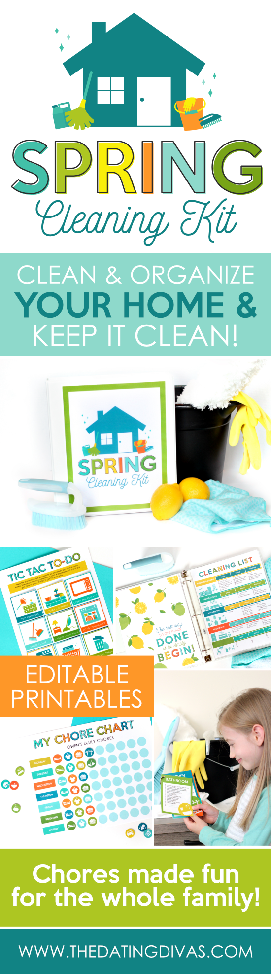 Spring Cleaning Kit Chores Made Fun #SpringCleaning #ChoreCharts #CleaningMadeFun