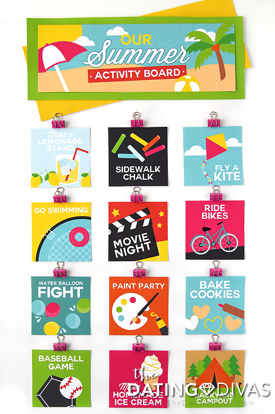 Fun Summer Activity Board #summeractivityboard #summerfun #kidsactivities