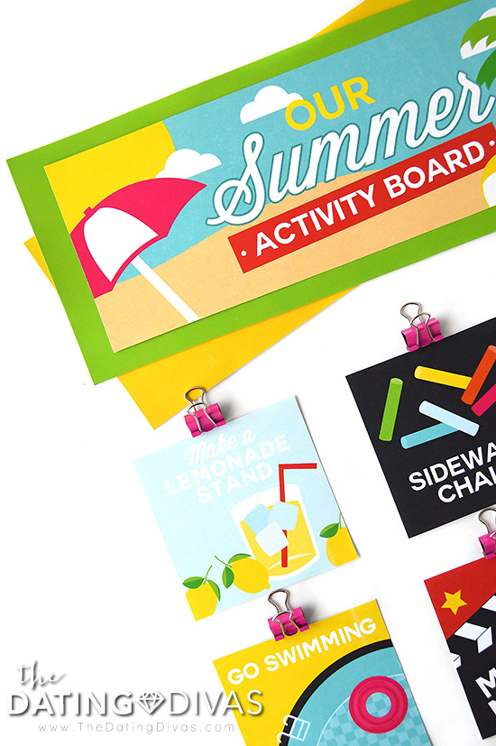 Summer Activity Board for the Family #summeractivityboard #summerfun #kidsactivities