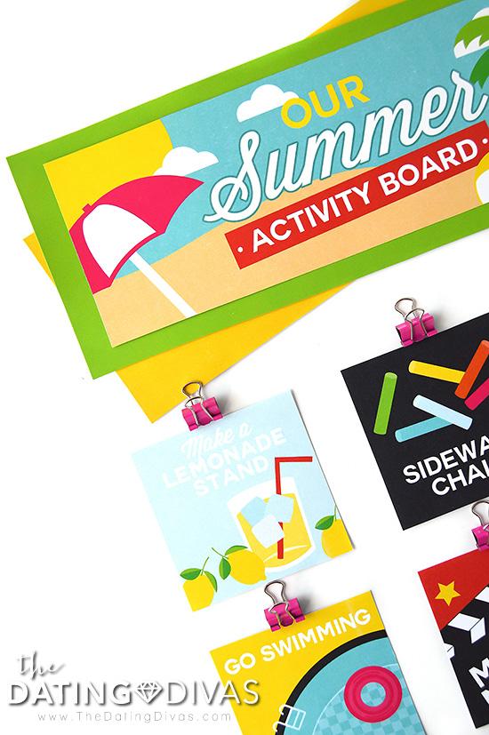 Summer Activity Board for the Family #summeractivityboard #summerfun #kidsactivities