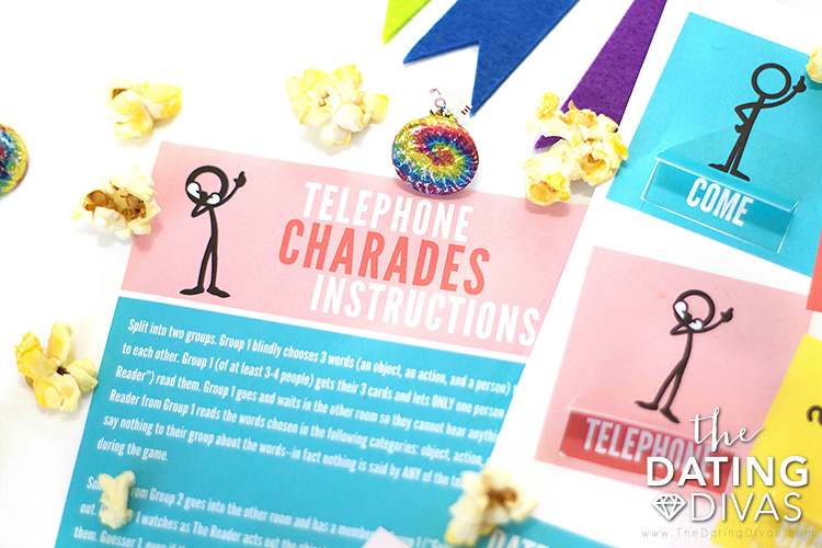 Telephone Charades Ideas