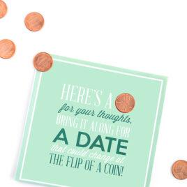 A spontaneous penny date night.