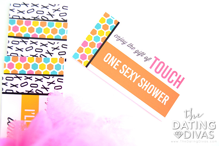 Give the gift of touch with the 5 senses sexy coupons booklet.