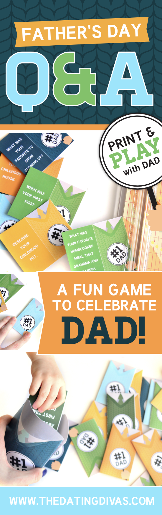These are things I've always wanted to know about my dad! I can't wait to use this Father's Day Activity from thedatingdivas.com It's super quick and easy to put together - WIN! #Father'sDayActivity #Father'sDay #Father'sDayQuestions #TheDatingDivas