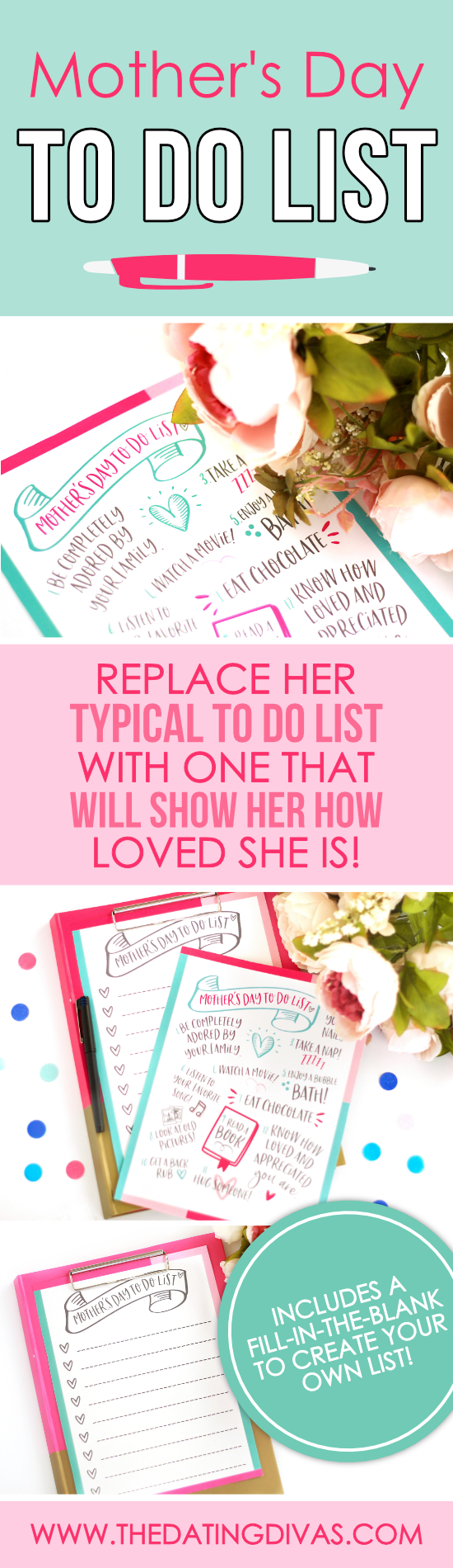 Mother's Day To-Do List Replacement #Mothersdaygiftidea #creativeMothersDayidea