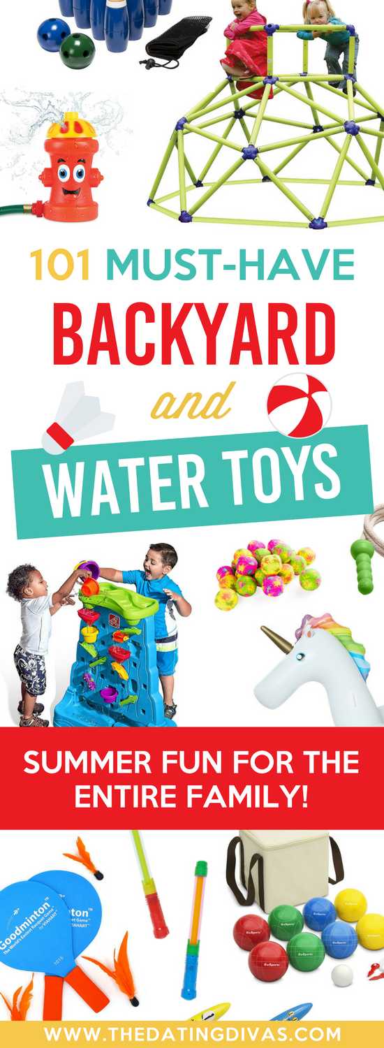 This list of summer fun ideas is AMAZING! So many great water and backyard toys! #summerfunideas #summeractivities #funsummeractivities #thedatingdivas