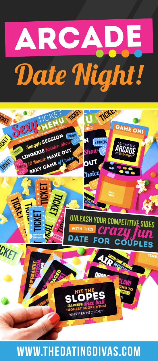 Perfect date night ideas to get the nerd in you excited! Adult arcade games for couples will be such a huge hit!! #gamesfortwopeople #adultarcade #fungamestoplay #thedatingdivas