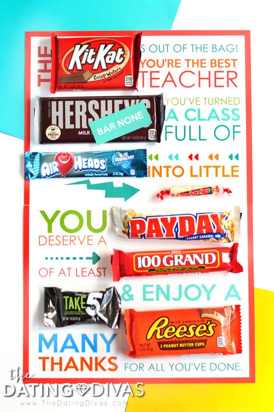 Last Day of School Candy Gram for Teacher