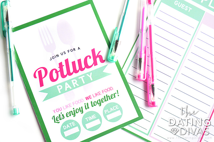 Potluck Ideas Invite and Potluck Party Planner
