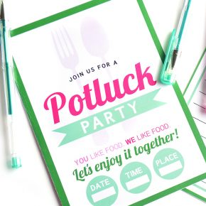 Potluck Ideas Invite for Group Date Potluck