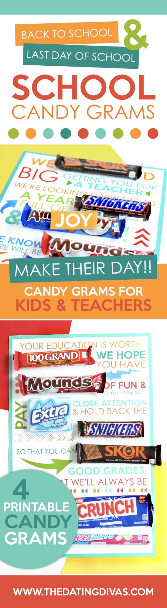 School Candy Gram Ideas for Kids and Teachers #SchoolCandyGram #CandyGramForTeachers