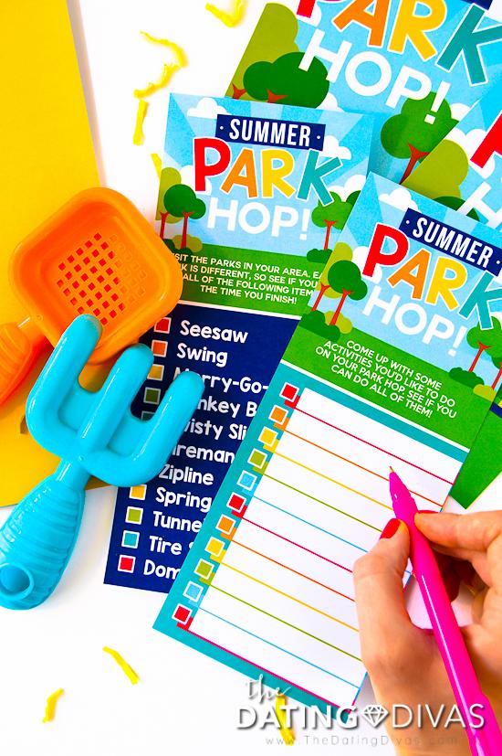 Summer Playground Games Checklist