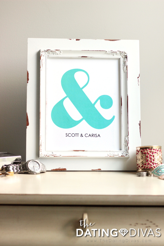 Ampersand Wall Art for Couples