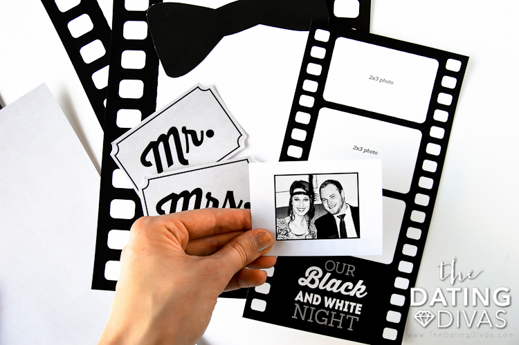 Black and White Movie Date Activity