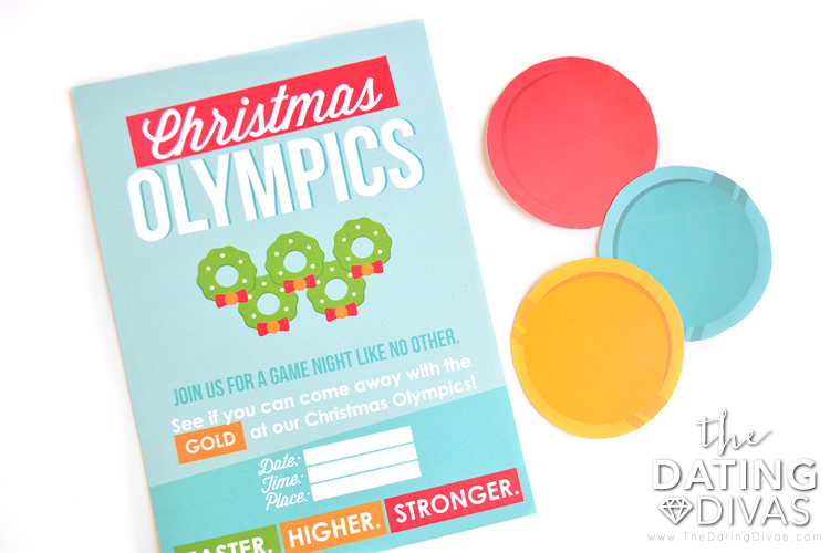 Christmas Olympics Invite and Medals