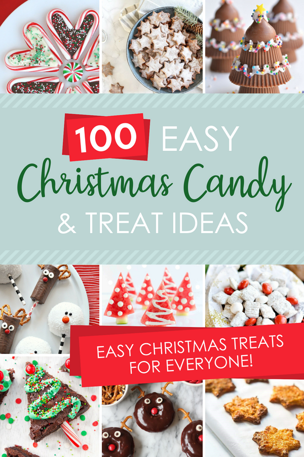 A HUGE list of easy Christmas candy and treat Ideas for everyone!!! #christmascandy #easychristmastreats #christmastreatsforkids