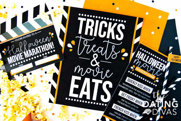 Halloween Concession Food Stand and Halloween Movies List