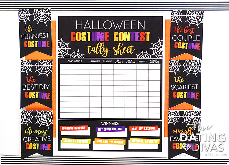 Halloween Costume Contest Idea and Printables