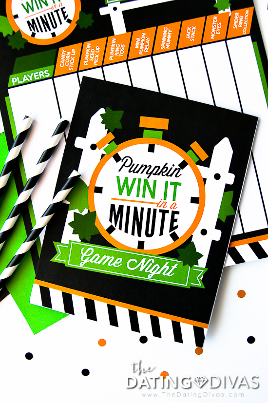 Halloween Minute to Win It Invite