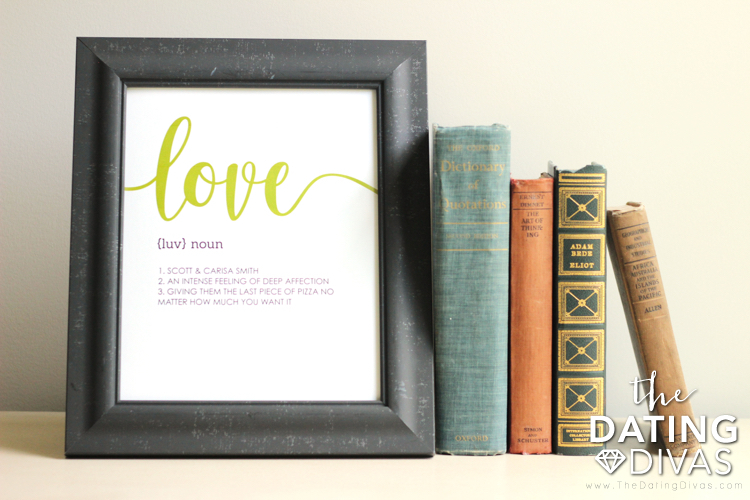 Love Definition Wall Art for Couples