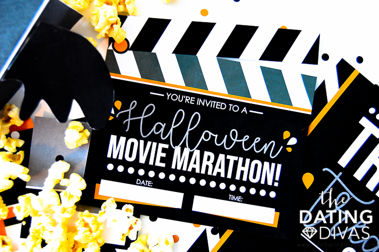 Movie Marathon Invite and Halloween Movies List