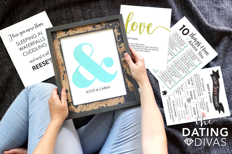 Personalized Wall Art Prints for Couples