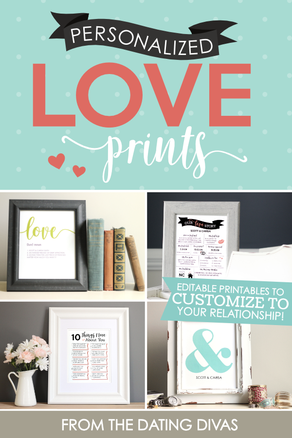 Customize your OWN wall art print to celebrate your marriage! #WallArtPrints #RomanticGiftIdea #TheDatingDivas