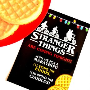 Stranger Things Theme Party Invite