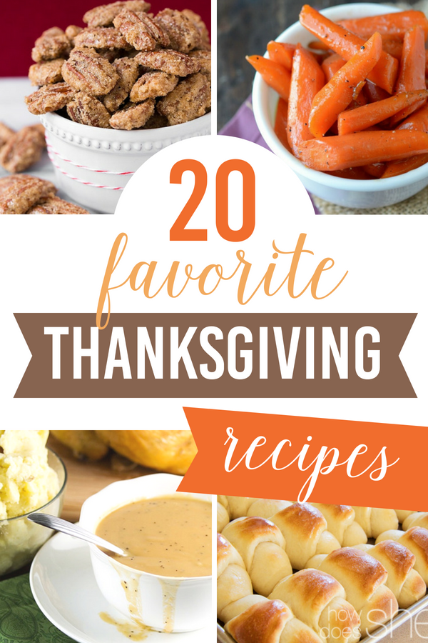 20 Favorite Thanksgiving Recipes
