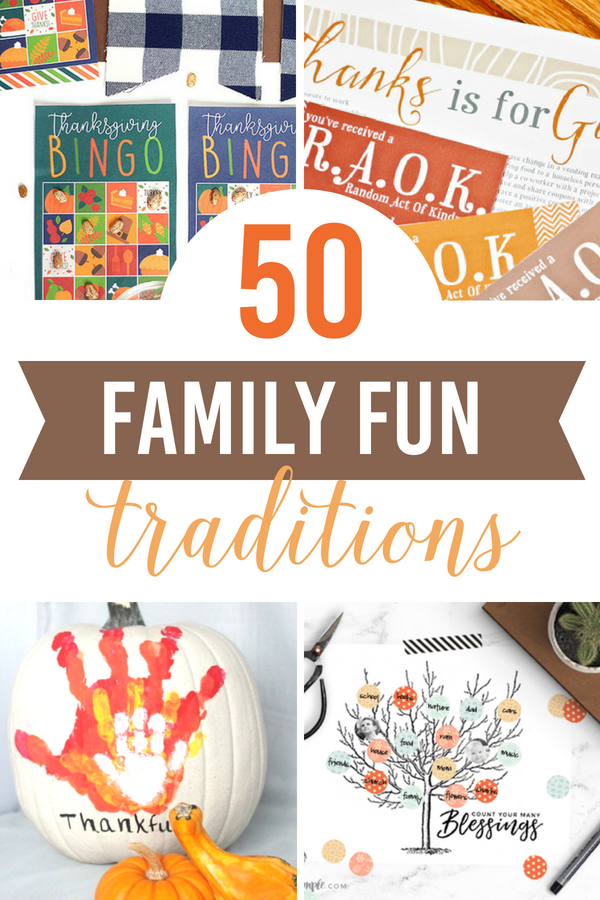50 Family Fun Thanksgiving Traditions