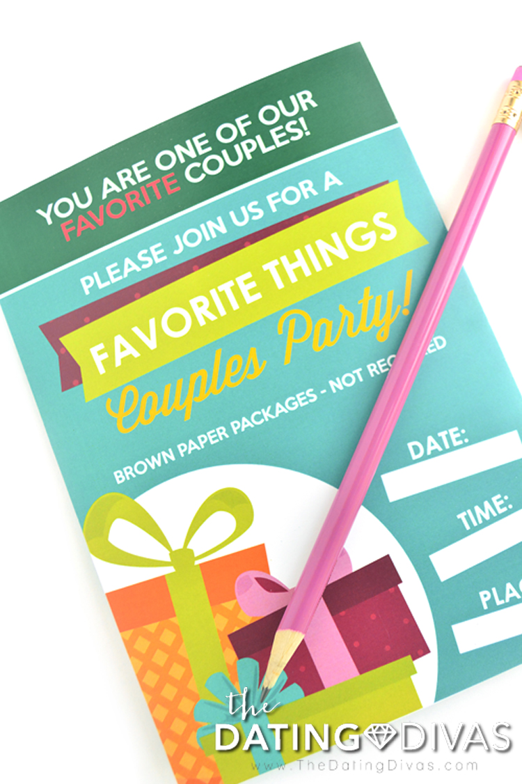 Couple's Favorite Things Party Invite