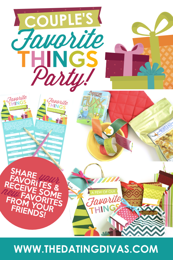 I LOVE a good favorite things party! This one will be perfect for my next Christmas party. Group date party! #FavoriteThingsParty #ChristmasFavoriteThings #DatingDivas