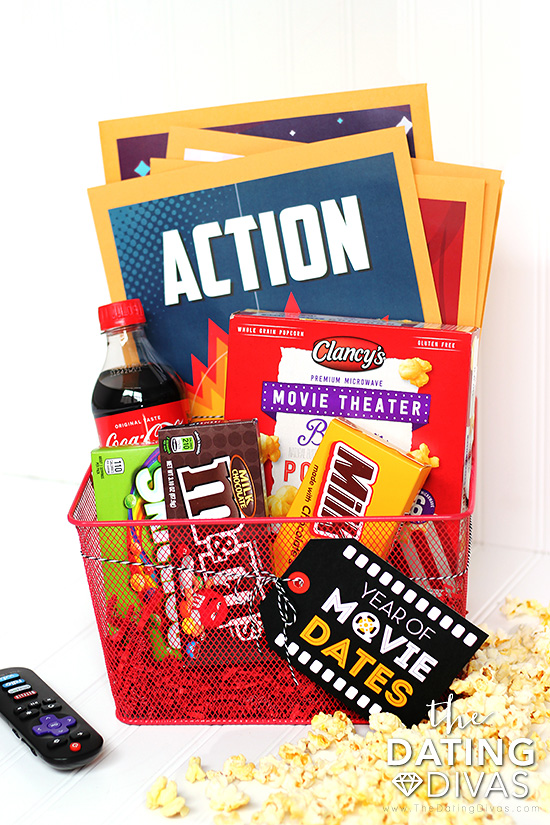 Date Night Movie Gift Basket