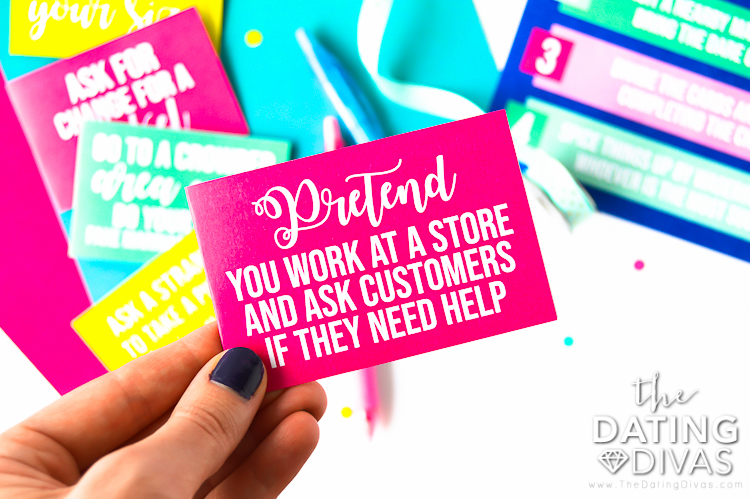 Embarrassing Dares Cards for the Mall