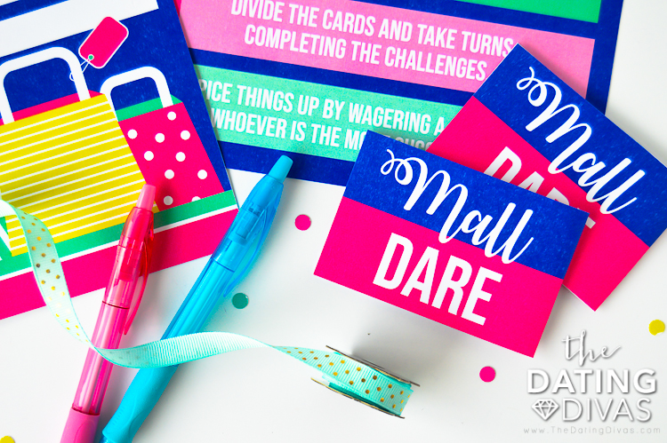 Embarrassing Dares and Mall Cards