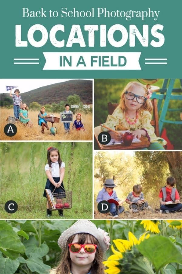 Photo ideas for back-to-school in a field | The Dating Divas