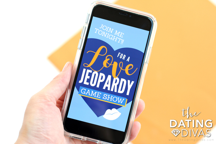 DIY Jeopardy Game Show Date Invitation